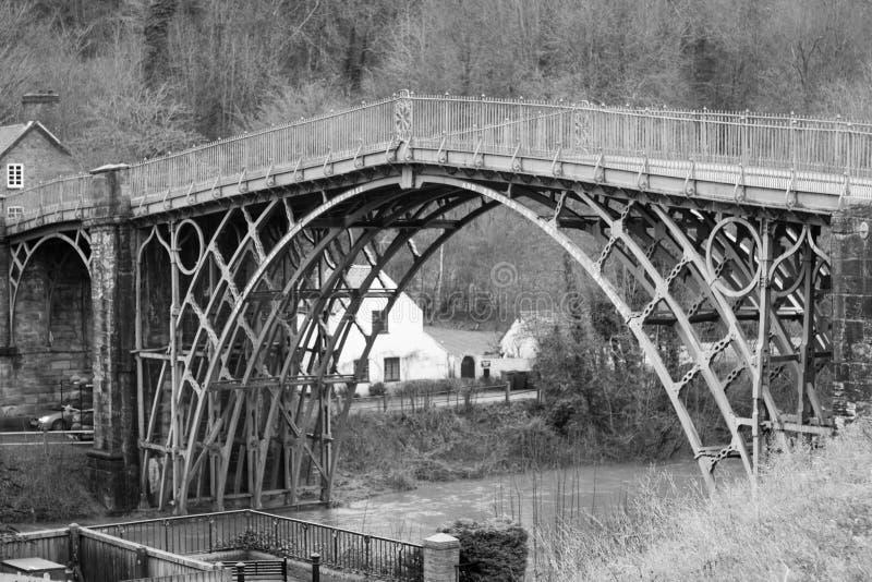 Ijzerbrug, Shropshire, Engeland het UK stock fotografie
