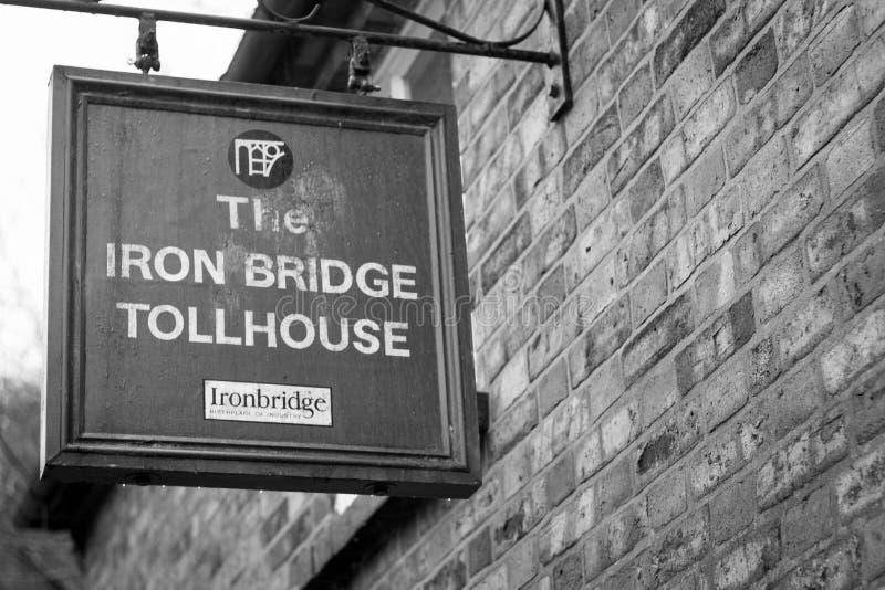 Ijzerbrug tollhouse, Shropshire, Engeland het UK stock fotografie