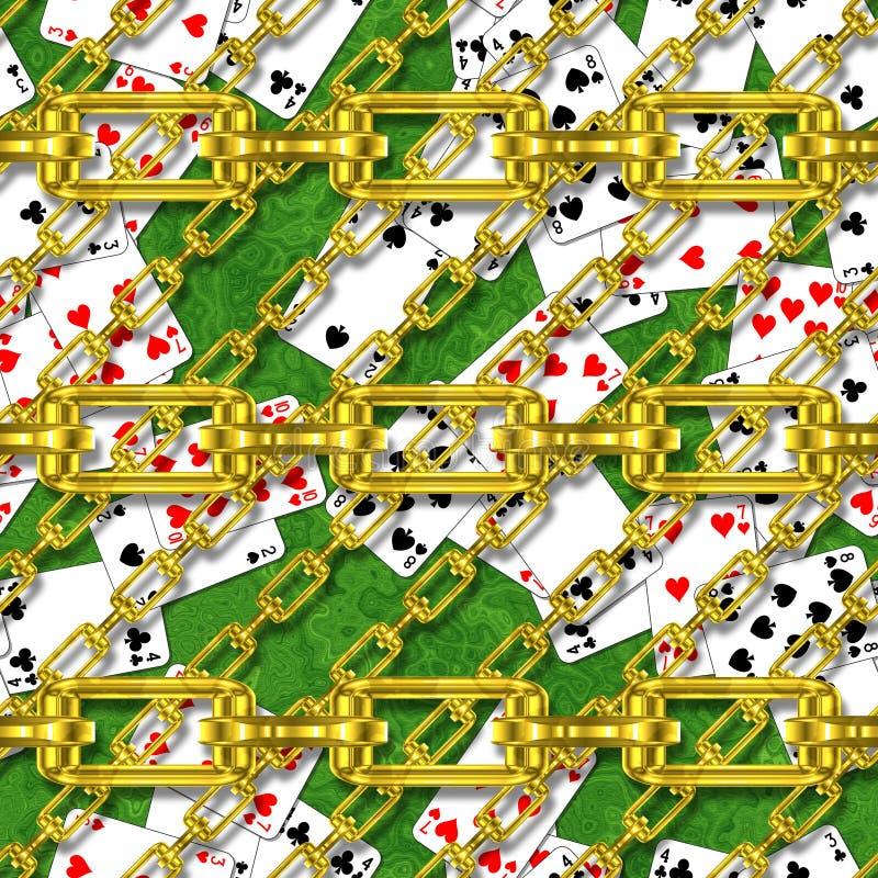 Download Ijzerkettingen Met Speelkaarten Naadloze Textuur Stock Illustratie - Illustratie bestaande uit slingers, illustratie: 54085802