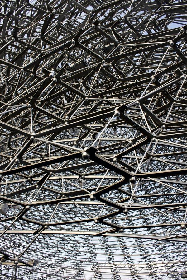 Ijzerpavillion in Expo Milaan stock afbeelding