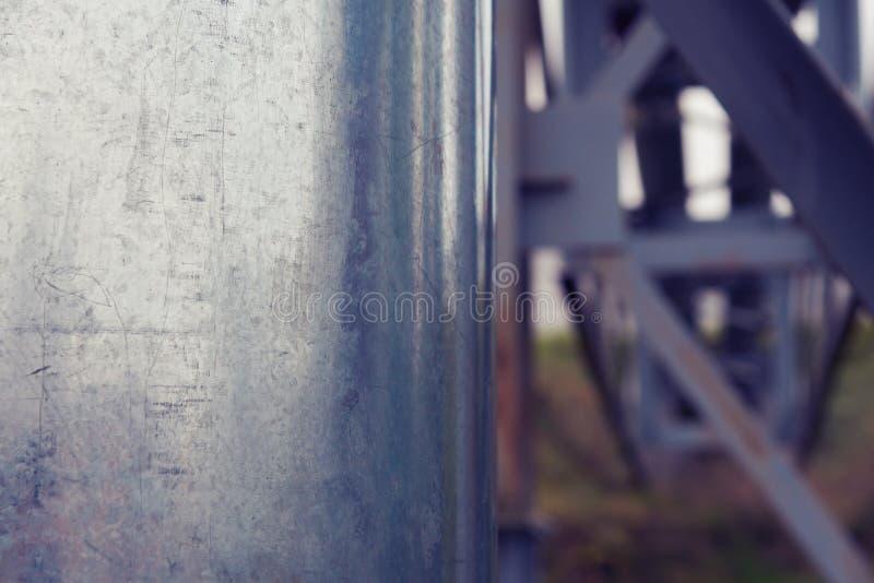 Ijzerpijpen op de hemelachtergrond stock fotografie