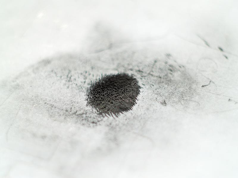 Ijzerpoeder in magnetisch veld royalty-vrije stock foto's