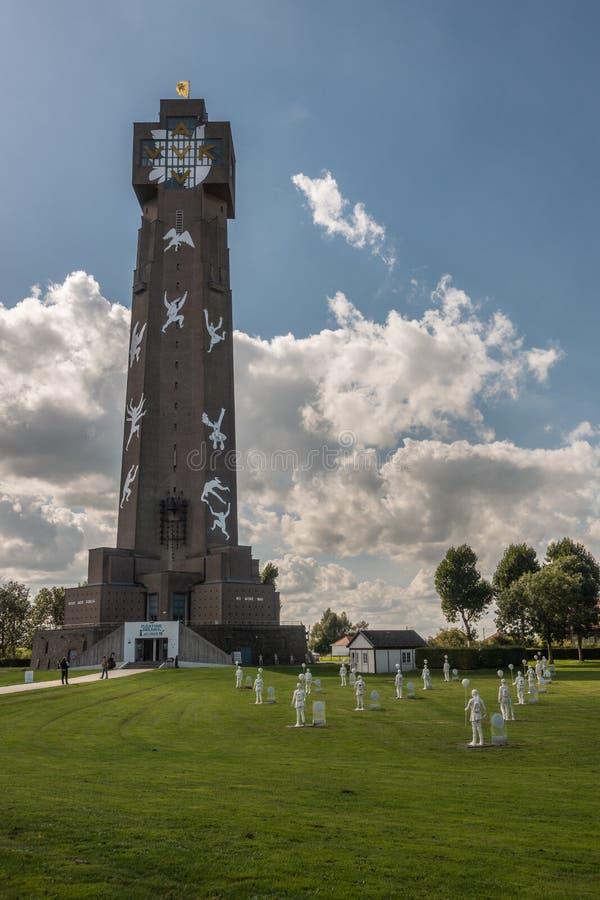 Ijzertoren в Diksmuide, Бельгии стоковая фотография