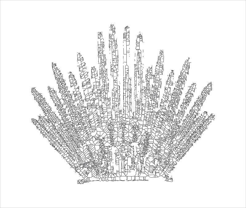 Ijzertroon voor het ontwerp van computerspelen royalty-vrije illustratie