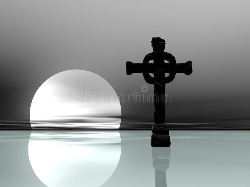 Ijzig DwarsSilhouet vector illustratie