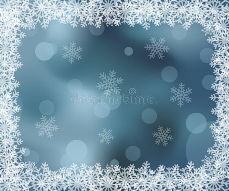 Ijzig patroon op het venster stock illustratie