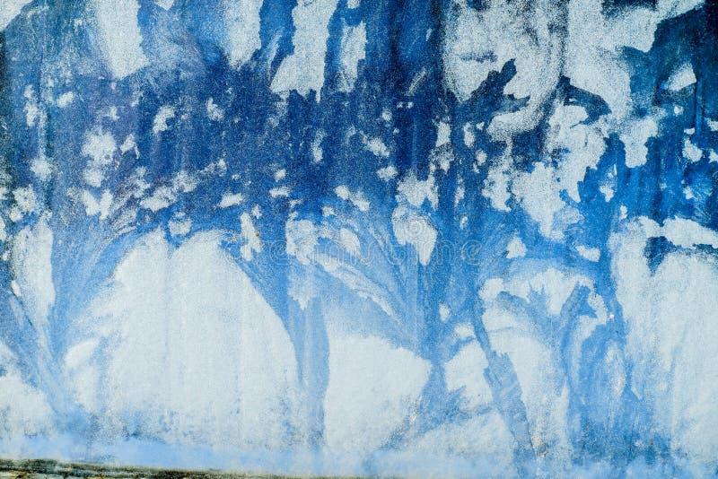 Ijzig patroon op het venster Mooie natuurlijke achtergrond Het thema van de winter Close-up vector illustratie