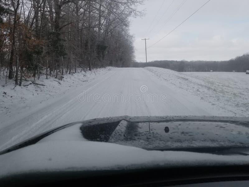 Ijzige backroads in Portland TN stock afbeeldingen