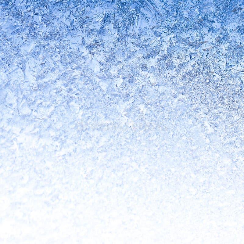 Ijzige Vorst op de winterochtend stock fotografie