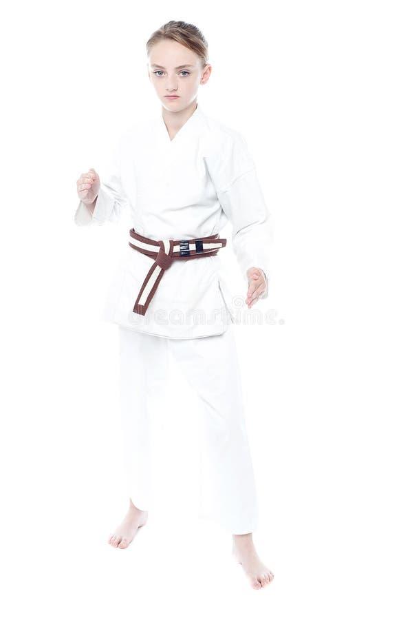 Ik ben een karatejong geitje! stock afbeelding