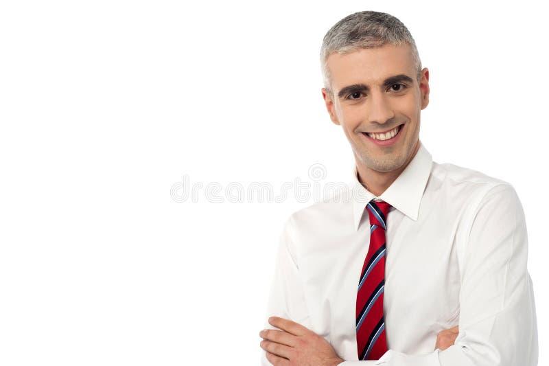 Ik ben hier de nieuwe manager! stock afbeeldingen