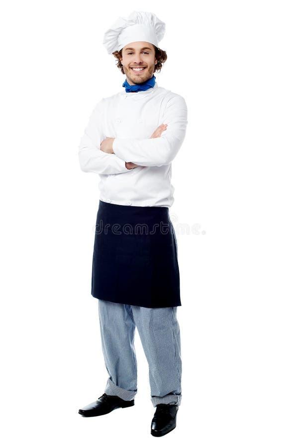 Ik ben hier de uitvoerende chef-kok stock foto