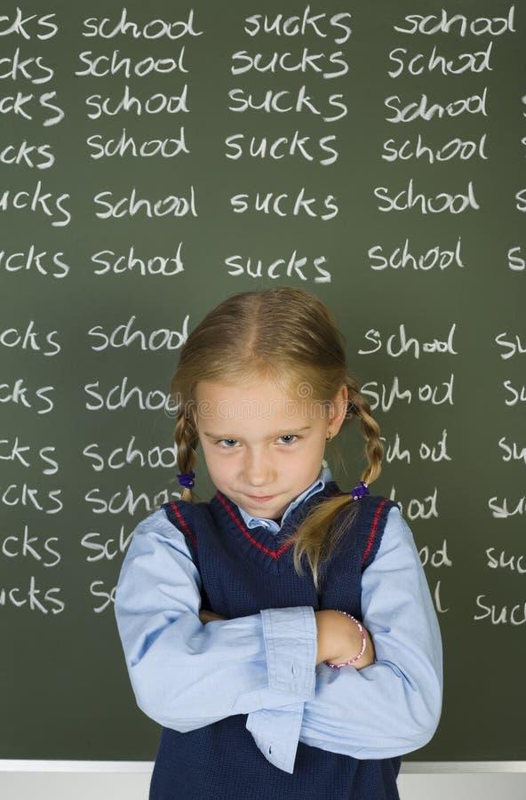 Ik haat school! royalty-vrije stock fotografie