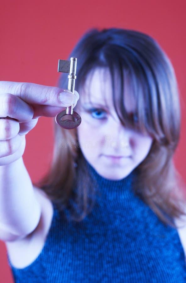 Ik heb de sleutel.   stock afbeeldingen