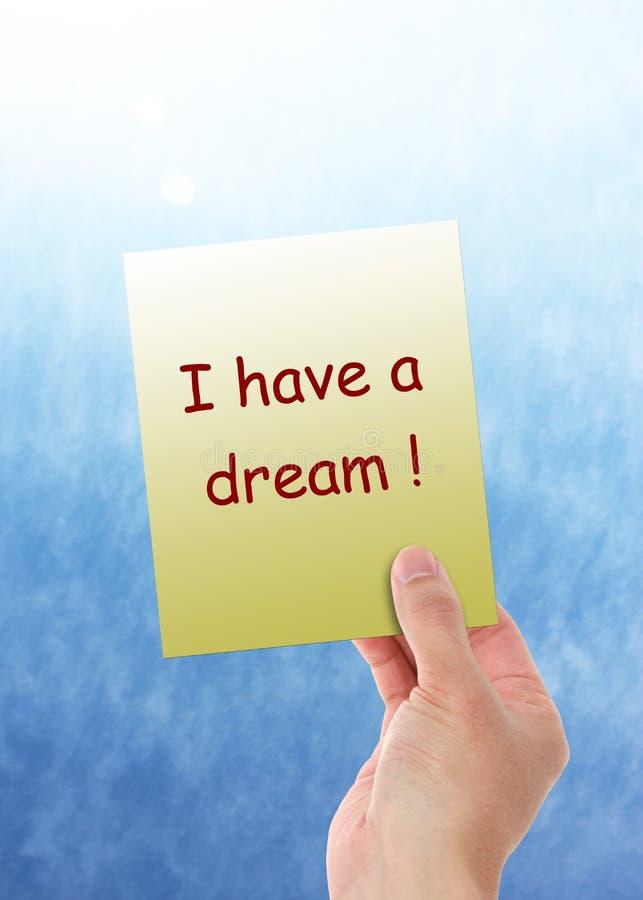 Ik heb een droom! stock fotografie