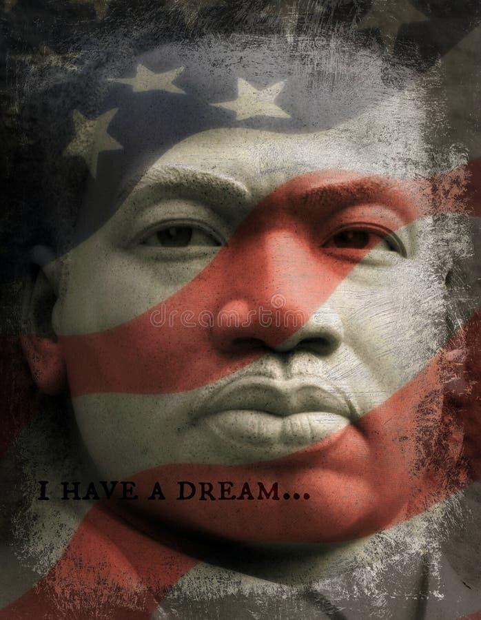 Ik heb een Droom, Martin Luther King Jr stock foto's