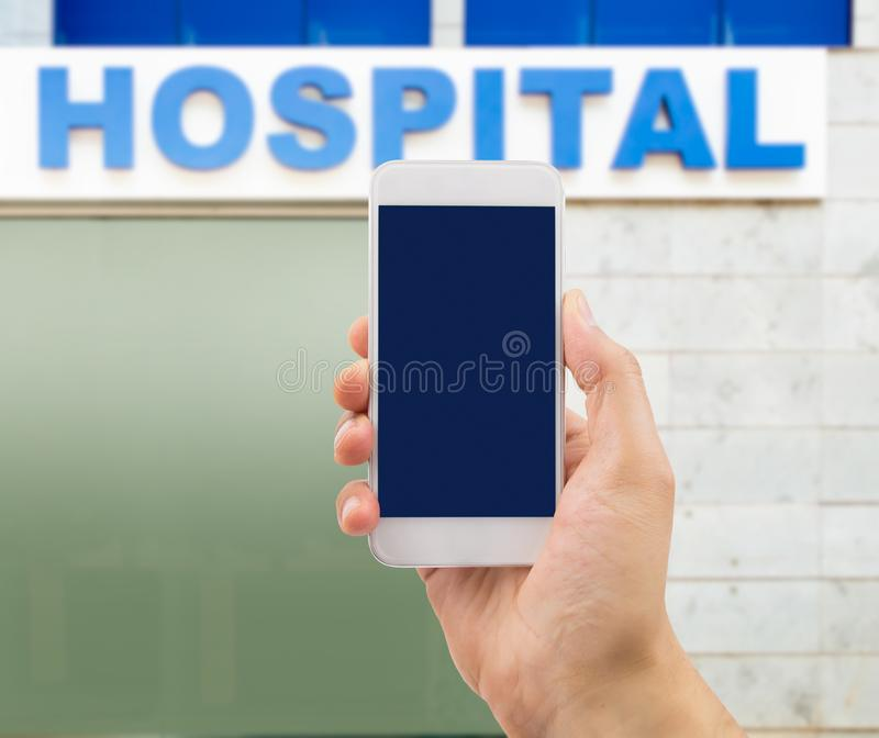 Ik heb het ziekenhuis nodig stock afbeeldingen