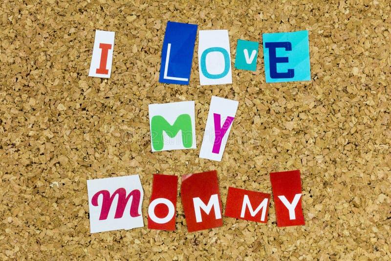 Ik hou van mama moeder moeder gelukkige moeders dag familie thuis royalty-vrije stock foto
