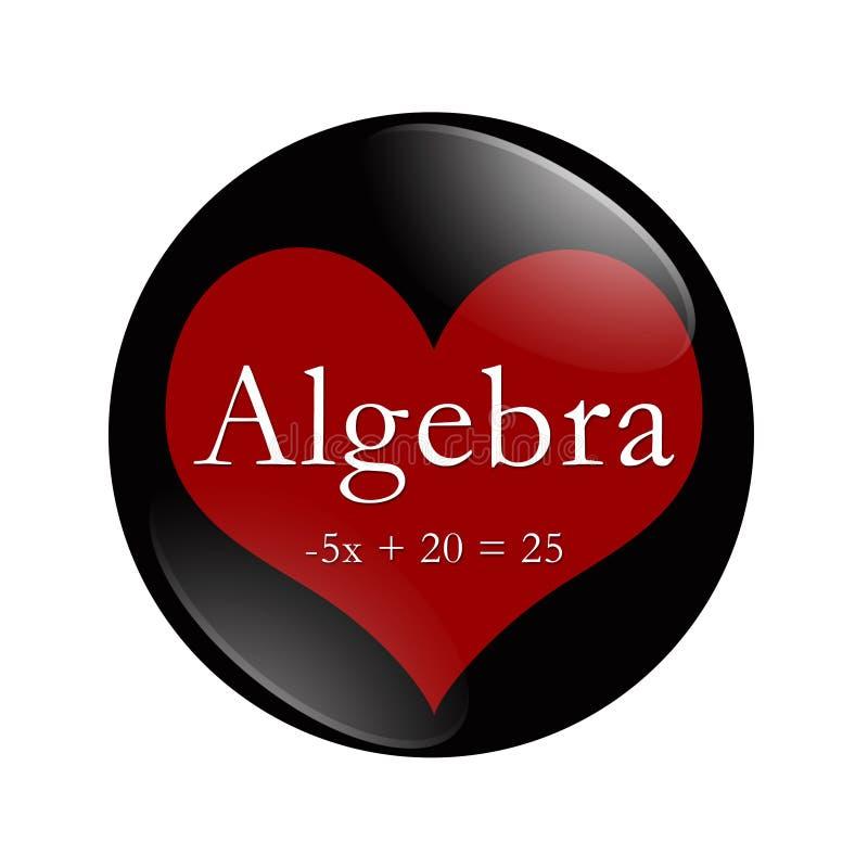 Ik houd Algebra van knoop op wit vector illustratie