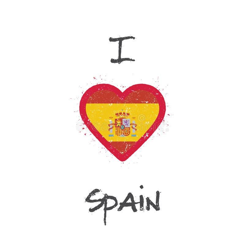 Ik houd de t-shirt van ontwerp van Spanje vector illustratie