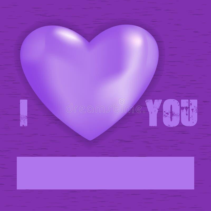 Ik houd u en parel van hart vector illustratie