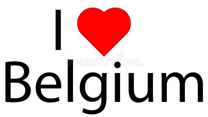 Ik houd van België royalty-vrije illustratie