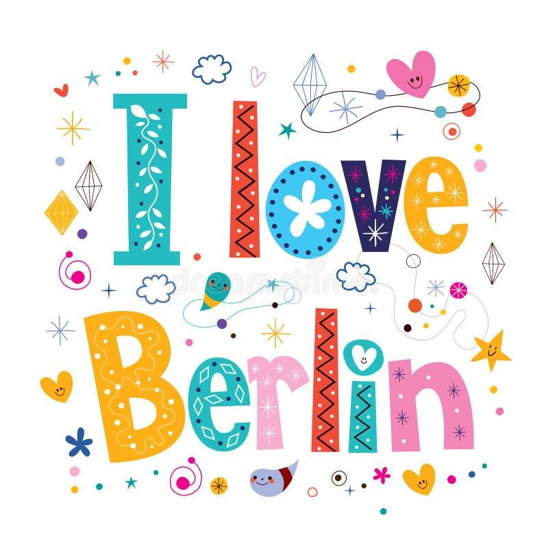 Ik houd van Berlijn stock illustratie
