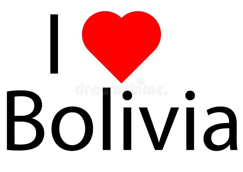 Ik houd van Bolivië royalty-vrije illustratie