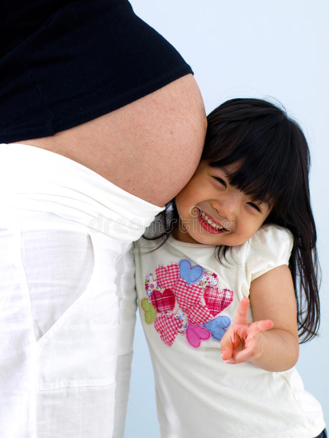 Ik Houd Van Brij En Baby Stock Afbeeldingen