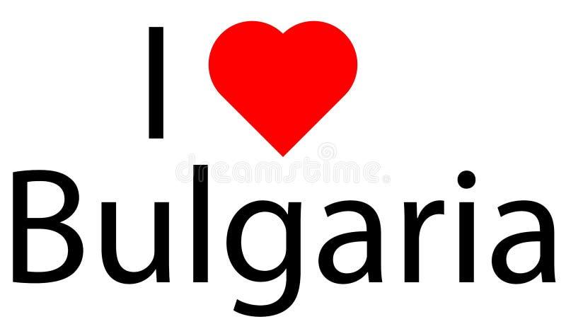 Ik houd van Bulgarije stock illustratie