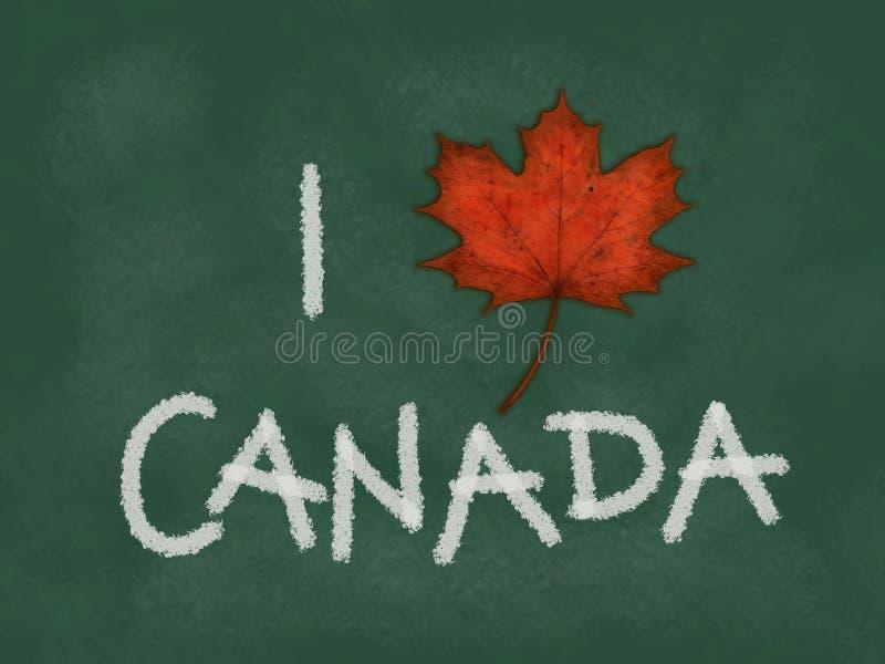 Ik houd van Canada stock afbeeldingen