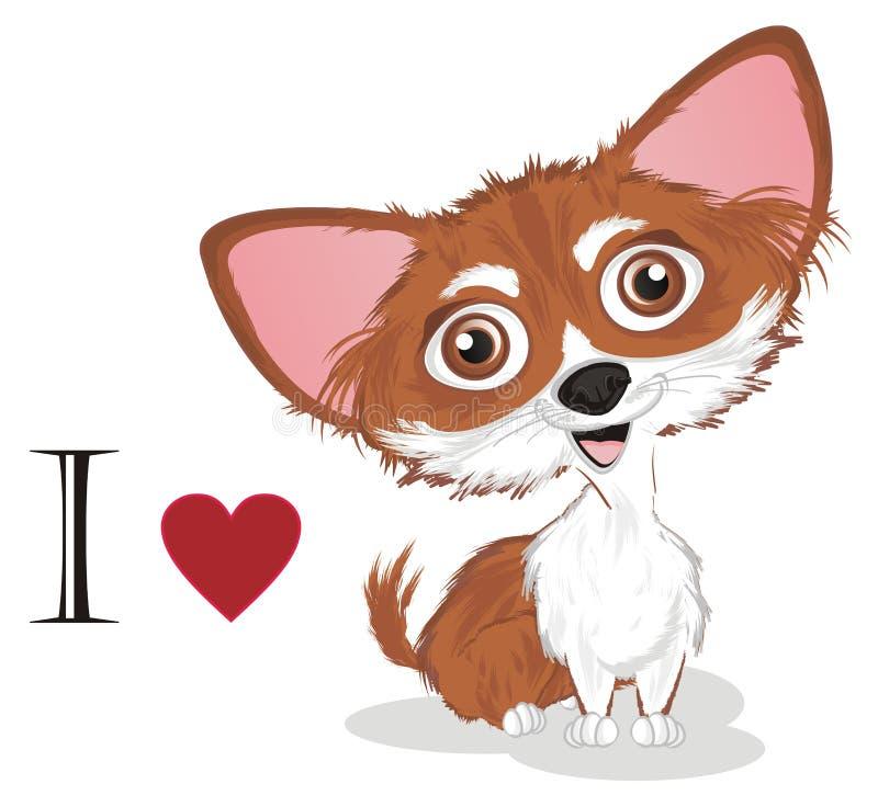Ik houd van Chihuahua vector illustratie