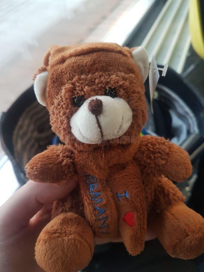 Ik houd van de teddybeer van Duitsland stock foto