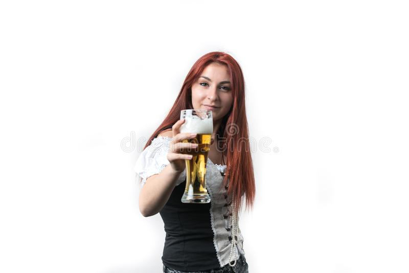 Ik houd van gouden, vers bier stock foto's