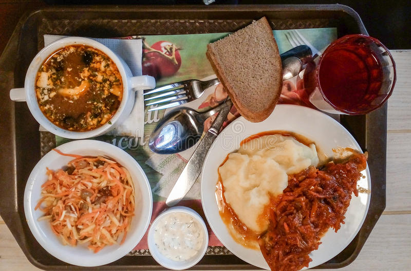Ik houd van heel wat heerlijk voedsel diner stock foto's