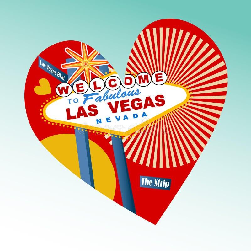 Ik houd van het Pictogram van Las Vegas vector illustratie