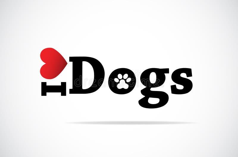 Ik houd van Honden stock illustratie
