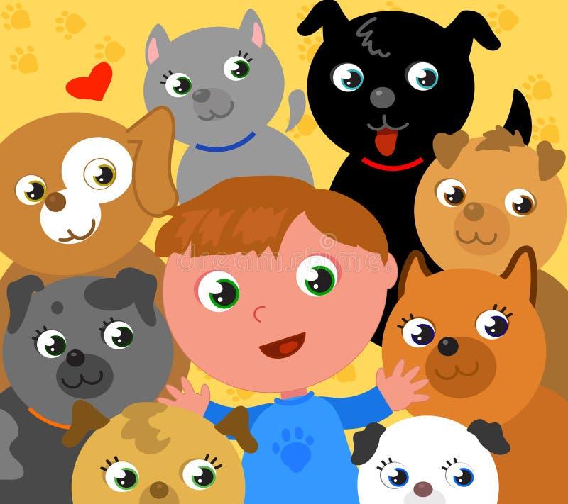 Ik houd van honden! royalty-vrije illustratie