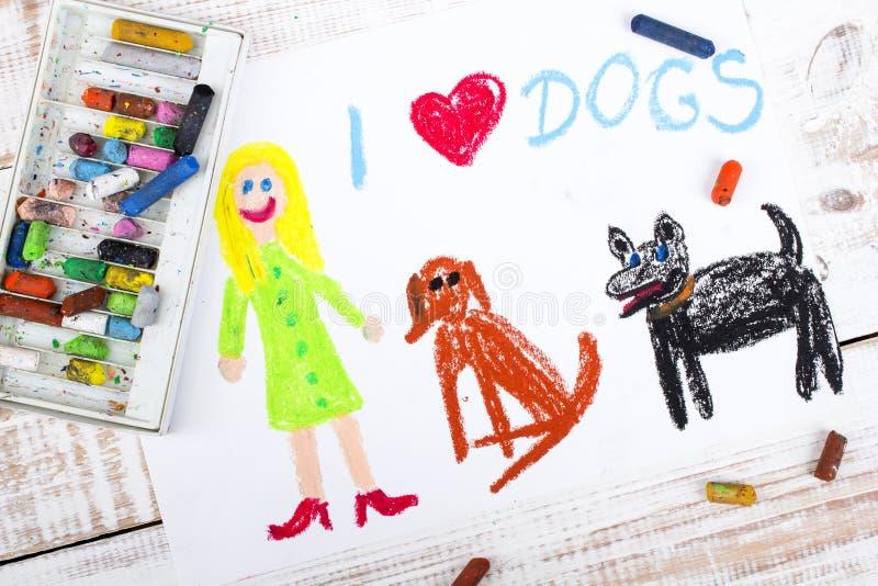 Ik houd van Honden stock afbeeldingen