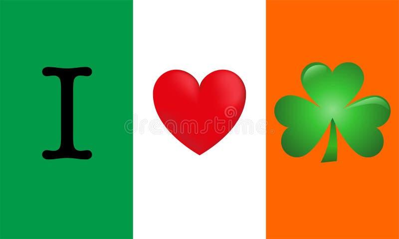 Ik houd van Ierland royalty-vrije illustratie