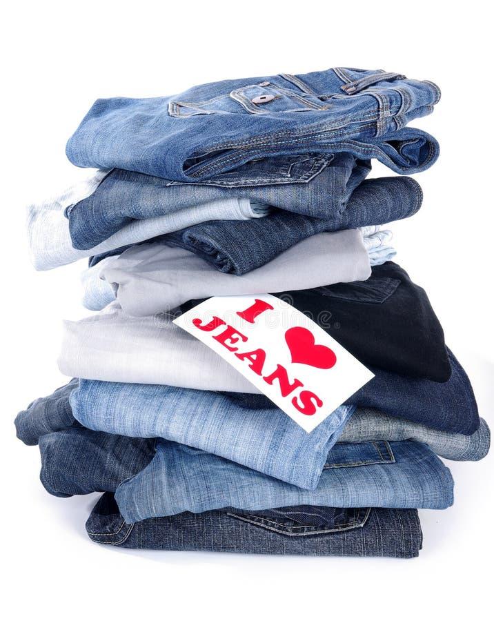 Ik houd van jeans royalty-vrije stock foto