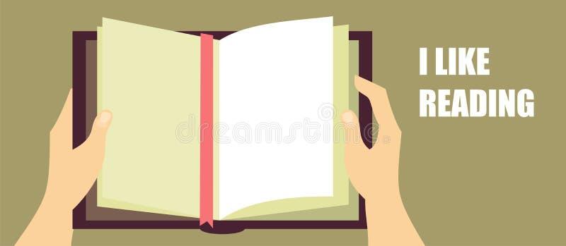 Ik houd van lezend royalty-vrije illustratie