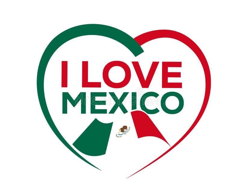 Ik houd van Mexico royalty-vrije illustratie