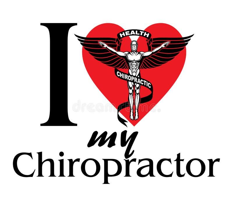 Ik houd van Mijn Chiropracticus royalty-vrije illustratie