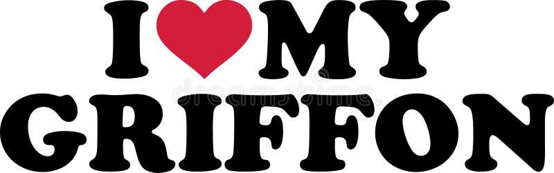 Download Ik houd van mijn Griffon vector illustratie. Illustratie bestaande uit liefde - 114228388