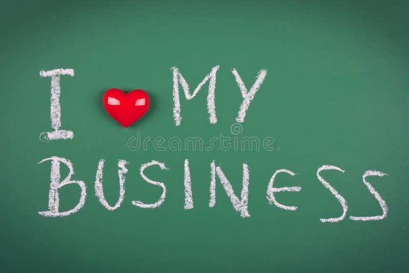 Ik houd van mijn zaken stock afbeelding