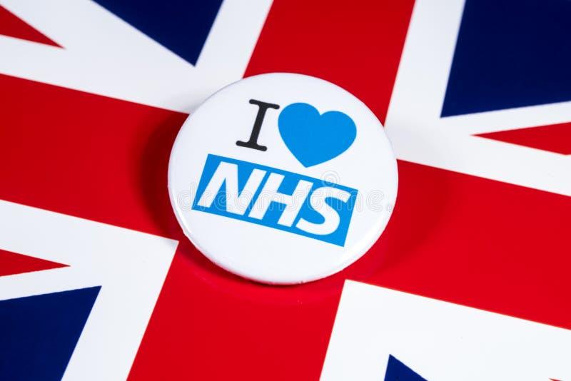 Ik houd van NHS royalty-vrije stock foto