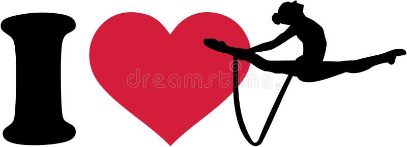 Ik houd van Ritmische gymnastiek met kabel stock illustratie