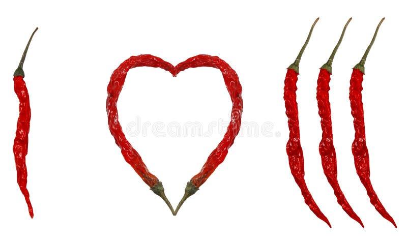 Ik houd van Spaanse pepers! royalty-vrije stock foto's