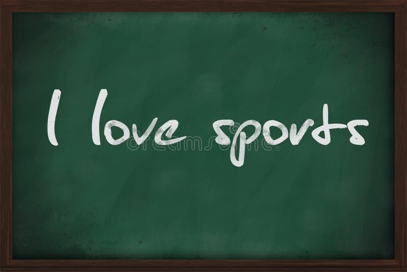 Ik houd van sporten royalty-vrije stock foto